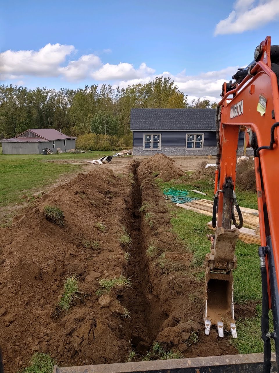 waterline digging